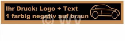 1-farbig negativ auf braun bedrucktes PP-Packband