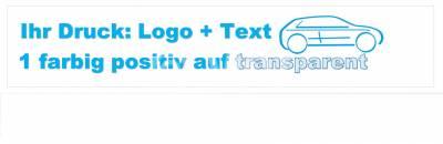 1-farbig positiv auf transparent bedrucktes Packband