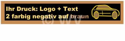 2-farbig negativ auf braun bedrucktes PP-Packband