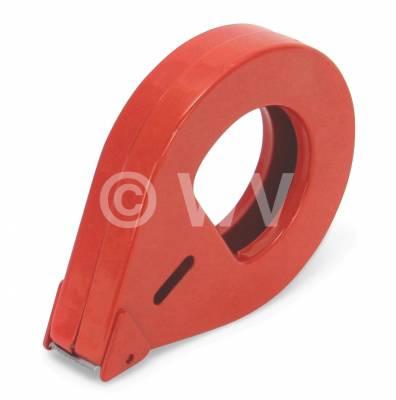 Handabroller_Metalldose_D2-25_rot_25mm
