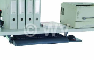 Tastatur-, Mausablage 600x420x110mm ausziehbar