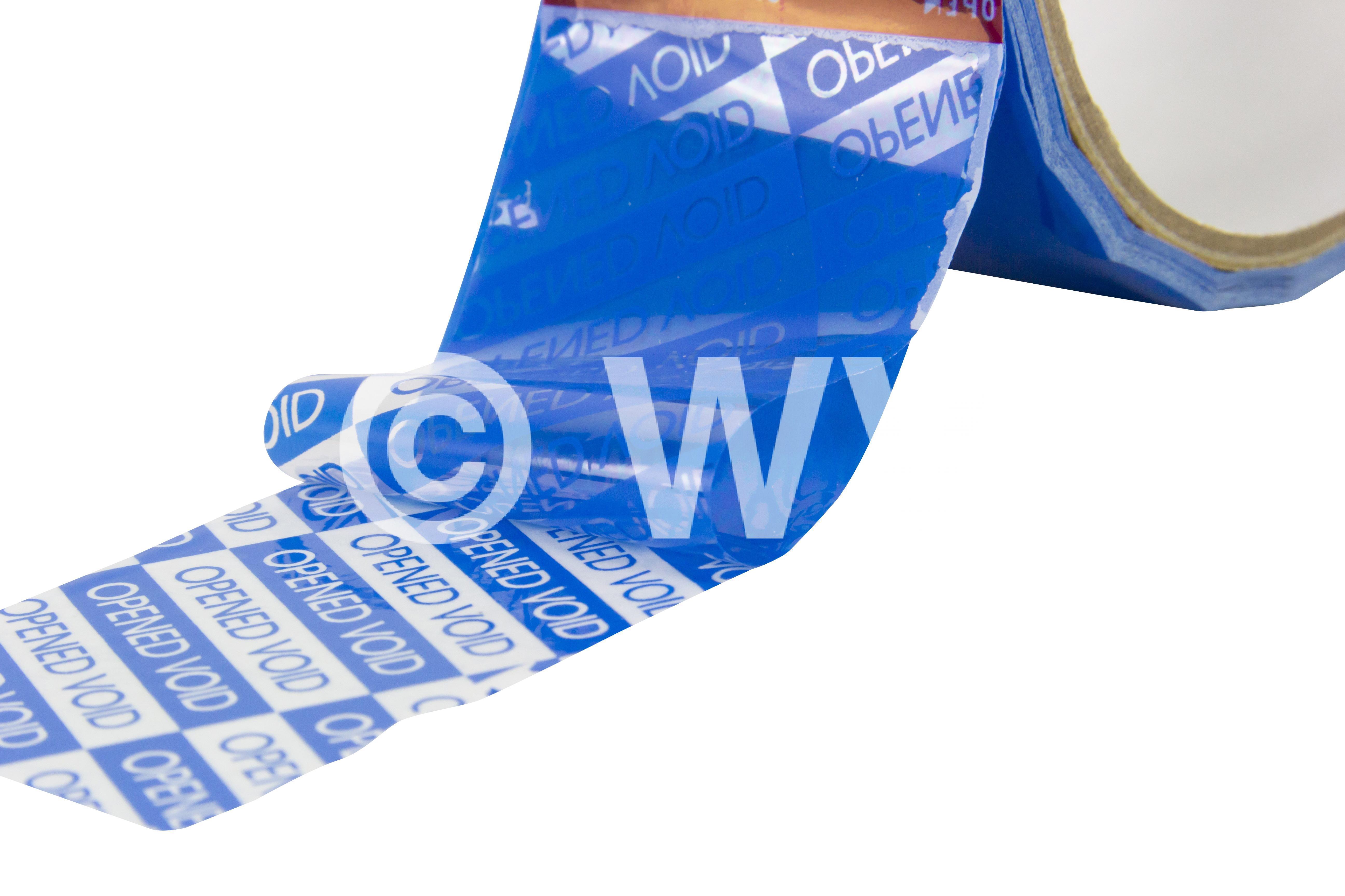 """Sicherheitssiegel Packband Premium blau 50 mm x 50 m Druck """"OPENED"""