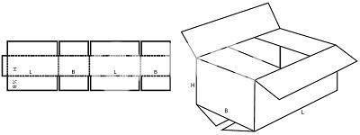 Karton nach Maß: FEFCO 0201 mit der Stk. Anzahl 40