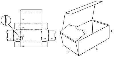 Karton nach Maß: FEFCO 0421 mit der Stk. Anzahl 1