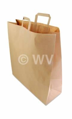 Tragetaschen aus Papier\Papier-Tragetaschen_braun_320+140x420mm