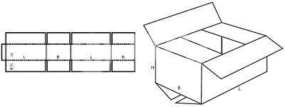 Karton nach Maß: FEFCO 0201 mit der Stk. Anzahl 125