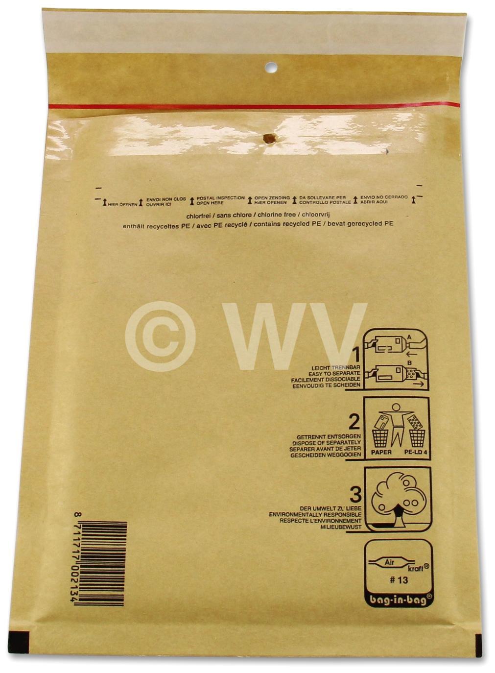10 St/ück C3 Luftpolstertaschen Versandtasche Braun zum Verpacken Umschl/äge Briefumschlag mit Polster