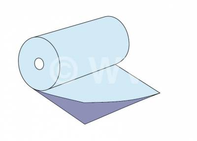 Schema-Zeichnung Halbschlauchfolie