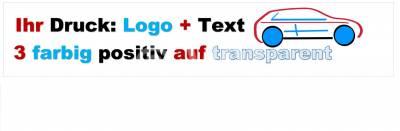 3-farbig positiv auf transparent bedrucktes PP-Packband