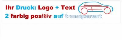 2-farbig positiv auf transparent bedrucktes Packband