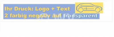 2-farbig negativ auf transparent bedrucktes PP-Packband