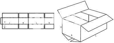 Karton nach Maß: FEFCO 0201 mit der Stk. Anzahl 1000